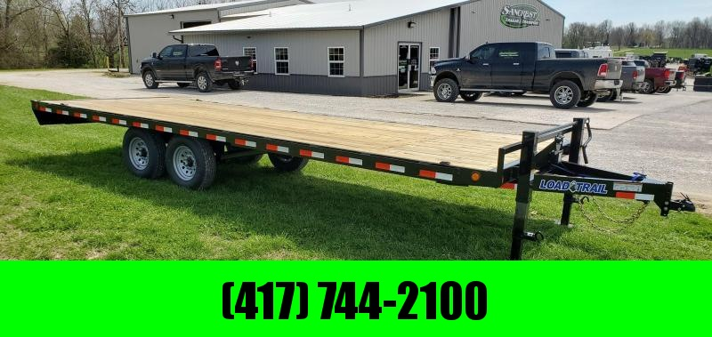 2020 Load Trail 102X24 TANDEM 14K DECKOVER W/2-10K JACKS & 8FT SLIDE OUT RAMPS