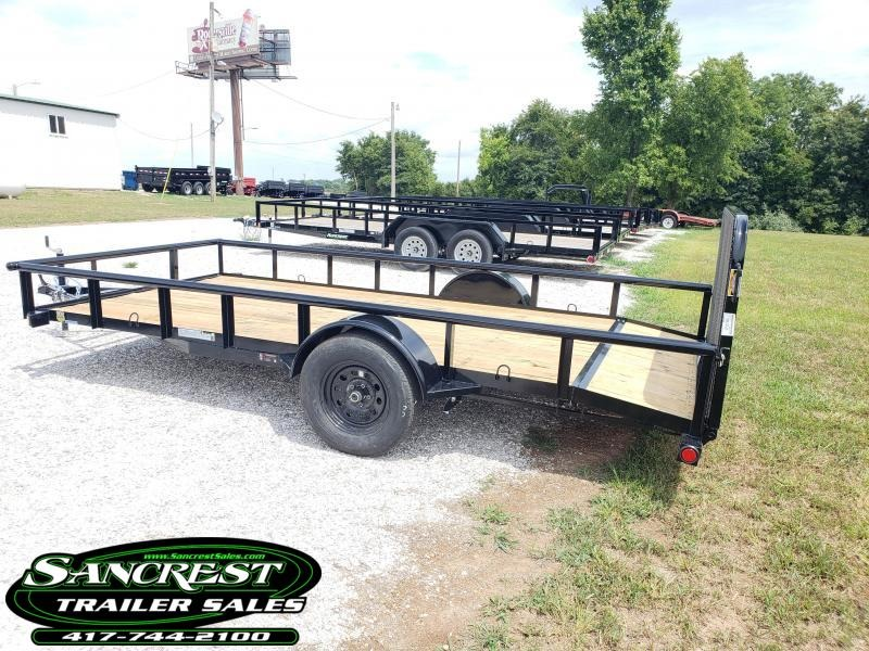 "2019 Load Trail 77"" x 14' Single Axle  Pipe Top Side Rails"