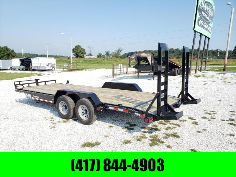 2019 Load Trail 83x22 BLACK Equipment Trailer w/7k axles and flip ramps