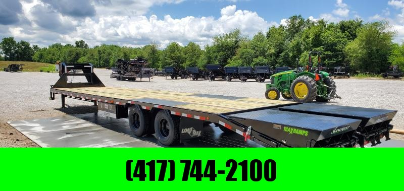 2019 Load Trail 102X40(35+5) TANDEM LO-PRO GOOSENECK WITH 12K HYD DISC BRAKE AIR RIDE LIFT AXLE MAX RAMPS