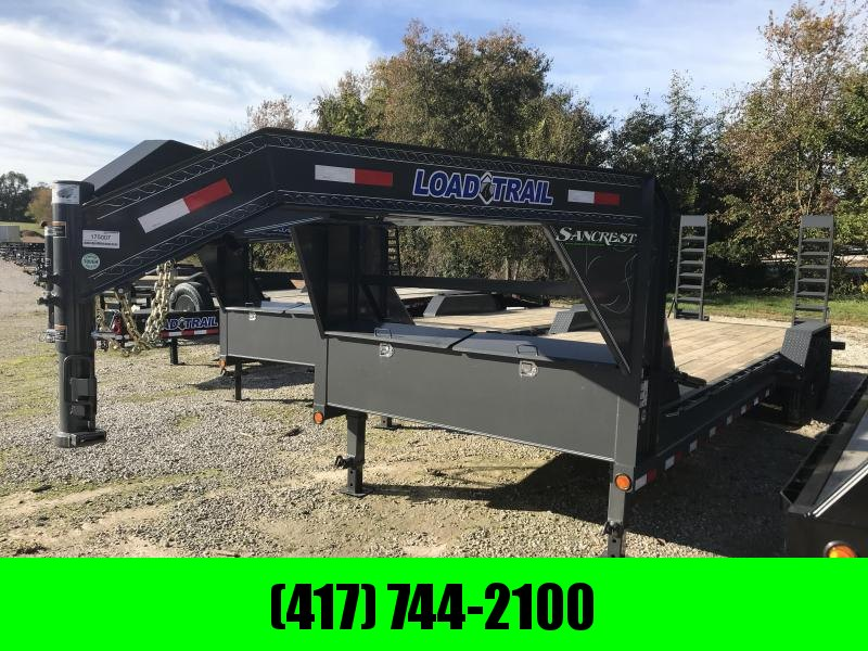 2019 Load Trail 83x24 Gooseneck Equipment Trailer w/7k axles and flip ramps(GRAY)