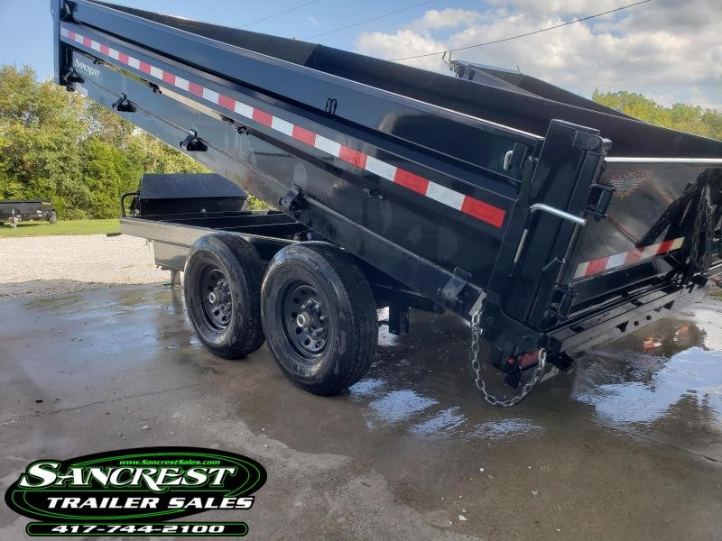 2019 H and H 96X14 DECKOVER Dump Trailer W/7 GA. FLOOR
