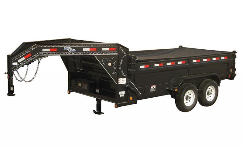 """2020 Load Trail 83"""" X 14' Double Axle Gooseneck Dump Dump Trailer"""