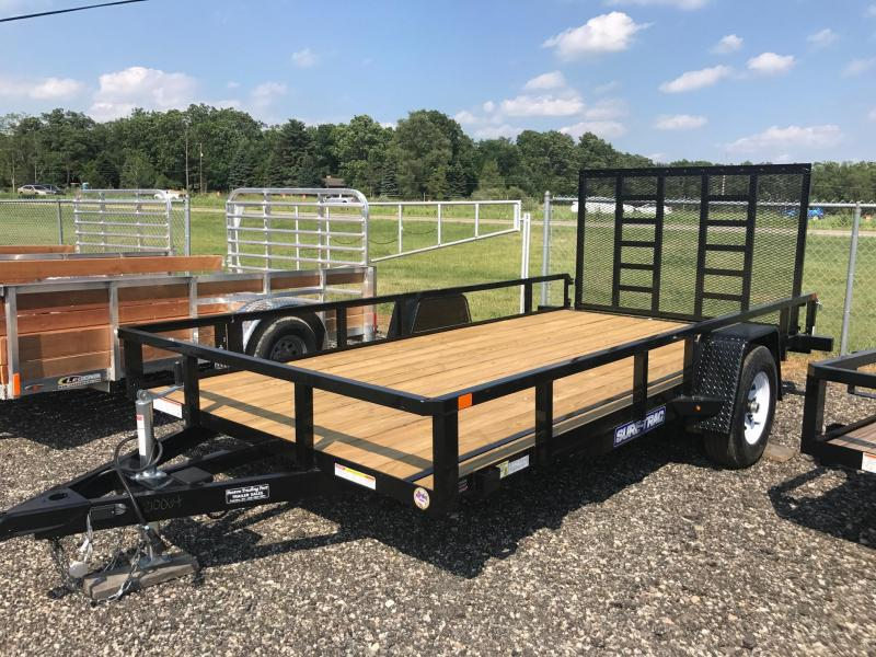 Sure-Trac 7X14 Tube Utility Trailer 5K with Brakes & Ladder Ramp