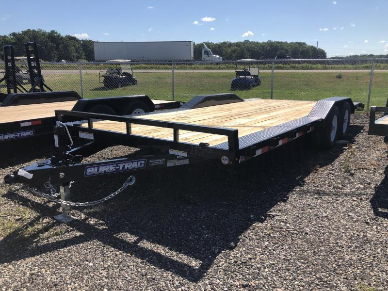 2018 Sure-Trac 7 X 20 Wood Deck Car Hauler w/ Full-Width Deck & Drive-Over Fenders