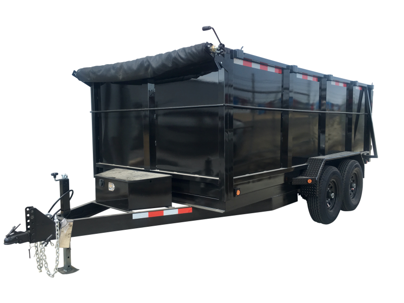 2019 R&J Trailers Inc 7x14 14k Dump Trailer 4' WALLS