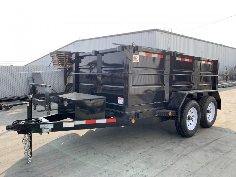 2019 R&J Trailers Inc 5X10 7K 3' WALLS DUMP