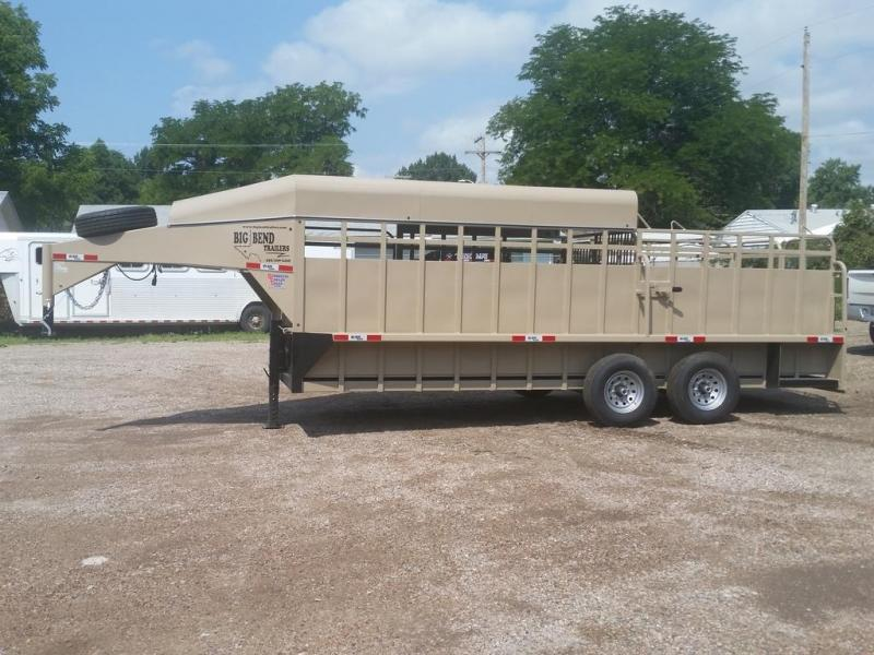 "2019 Big Bend 20' x 6'8"" 3/4 Top Stock Trailer"