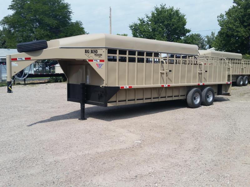 2019 Big Bend 24ft 3/4 top stock Livestock Trailer