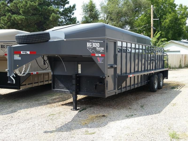 "2019 Big Bend 22' x 6'8"" 3/4 Top Stock Trailer"