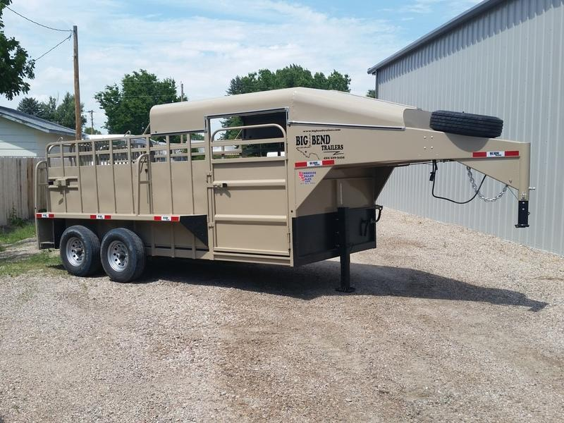 "2019 Big Bend 16' x 6'8"" 1/2 Top Stock Trailer"