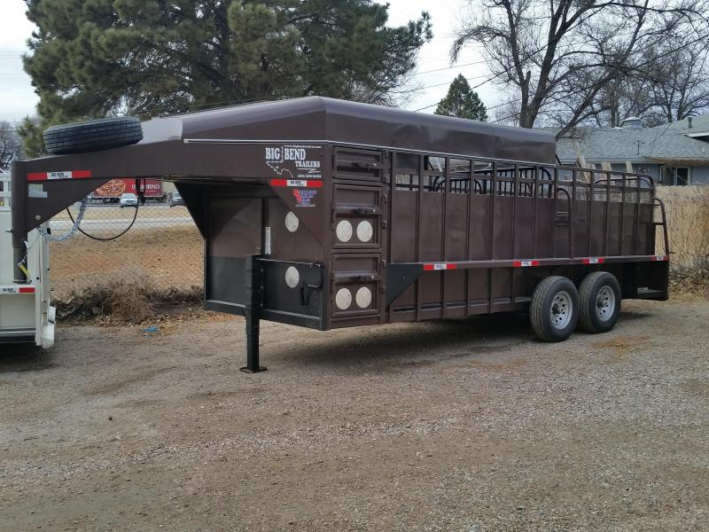 2019 Big Bend 20 HALF TOP Livestock Trailer