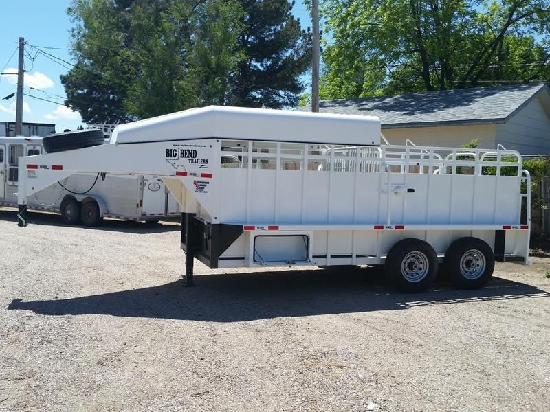 "2019 Big Bend 6'8"" Wide Half Top Stock Trailer"