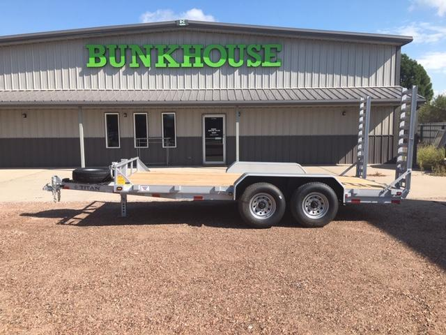 2019 Titan Trailers 16' UTILITY BH FLAT BED Flatbed Trailer