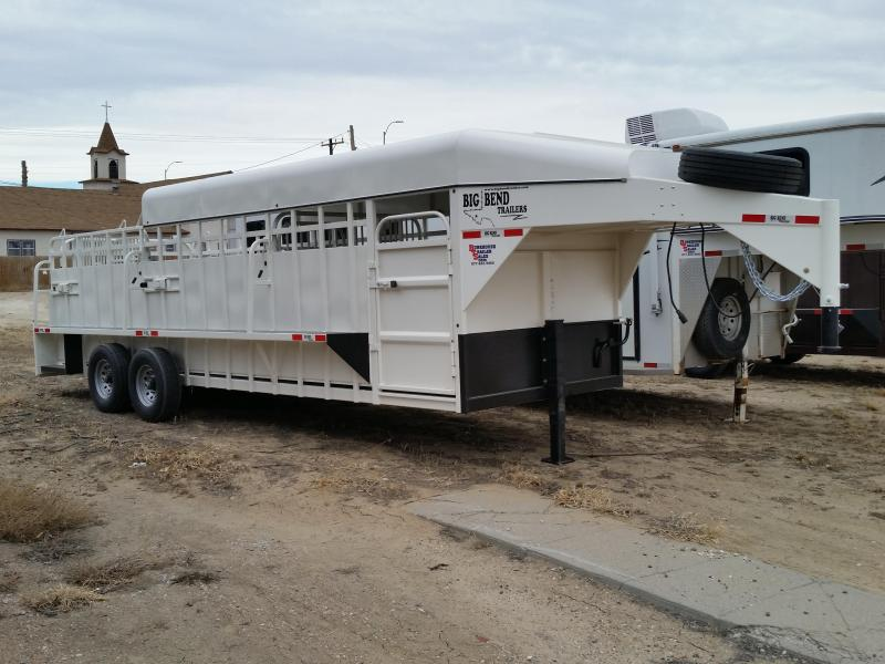 2019 Big Bend 24FT 3/4 TOP Livestock Trailer