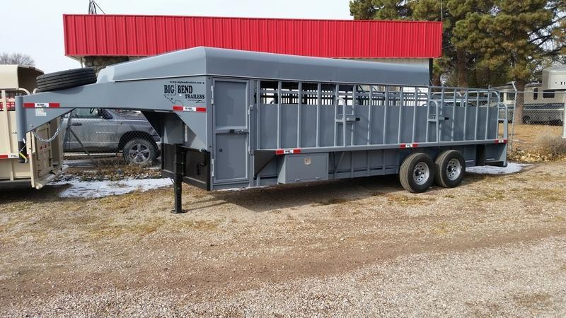 "2018 Big Bend 24' X 6'8"" 3/4 Top Stock Trailer"