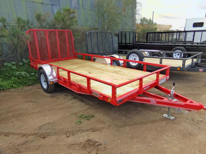 2019 PJ Trailers 14 X 77 RED UTV ATV UTILITY TRAILER ATV Trailer