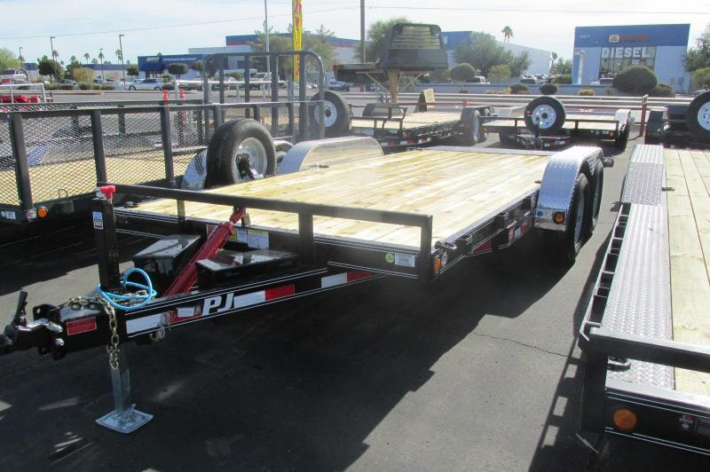 2017 PJ Trailers 18x 83 Hydraulic Quick Tilt Equipment Trailer