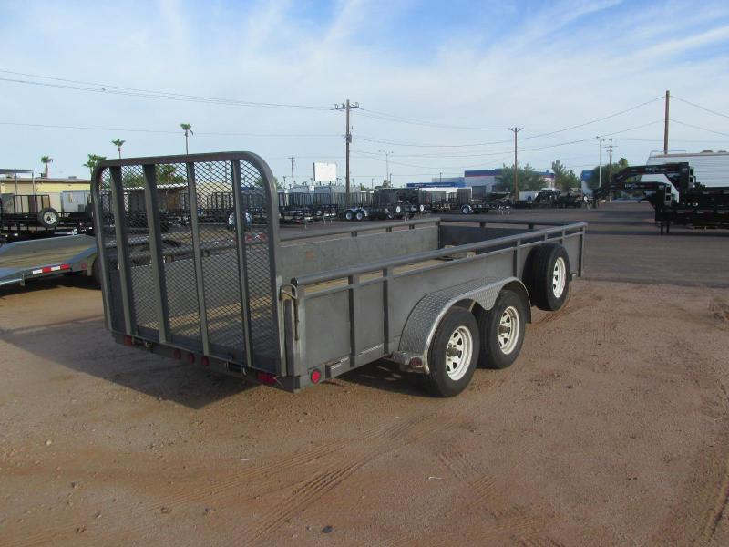 Used 2008 PJ Trailers 16 x 77 Utility Trailer w/ Solid Metal SIdes