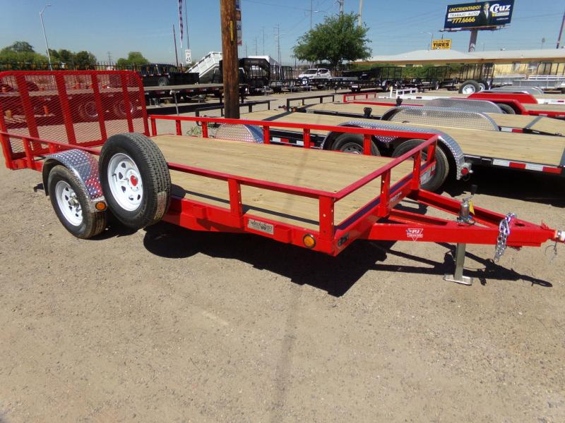 2020 PJ Trailers 14 X 77 UTV / ATV UTILTY TRAILER RED POWDER COAT ATV Trailer