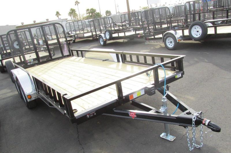 "2016 PJ Trailers 16' x 77"" Channel Utility Trailer"