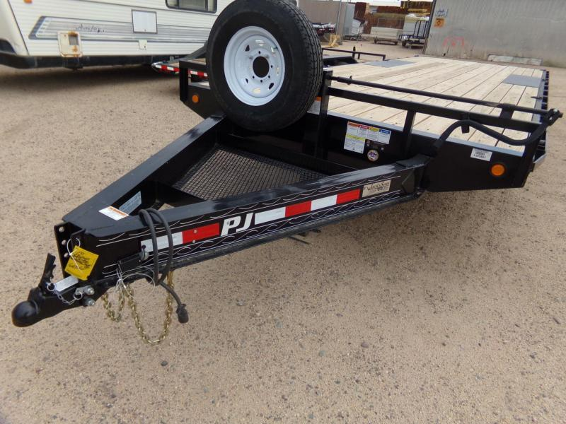"2019 102""x24' PJ Trailers F8 Equipment Trailer"