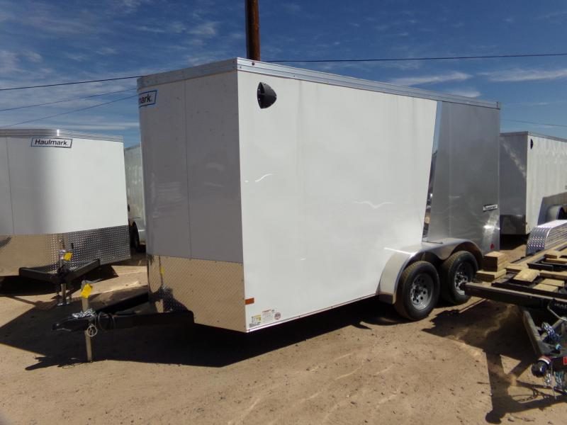 2019 Haulmark 14X7 TRANSPORT utv RAMP DOOR 2 TONE Enclosed Cargo Trailer