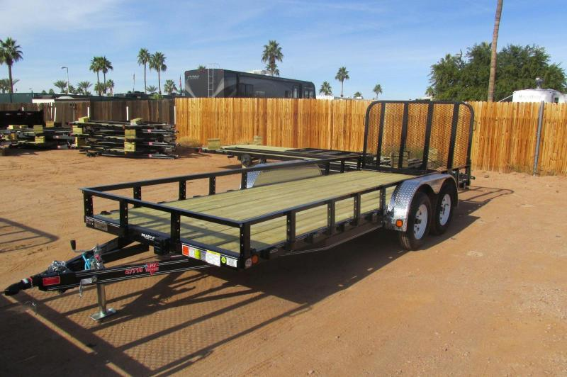 2017 PJ Trailers 18 x 77 Channel Utility Utility Trailer