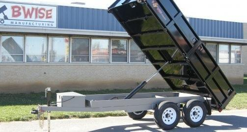 B-Wise DD12-10 6'x12' Deck Over Dump Trailer 9.9K GVWR