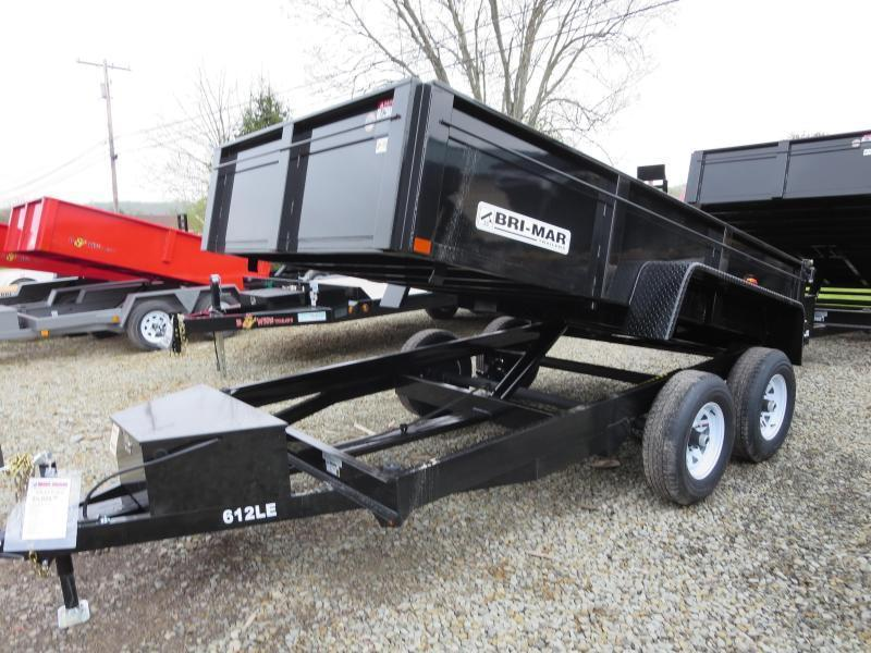 "Bri-Mar DT612LP-LE-10-A 72""x12' Low Pro Dump Trailer 9.9K GVWR"