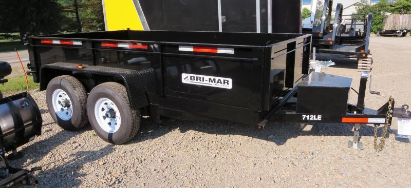 "Bri-Mar DT712LP-LE-12-A 81.5""x12' Low Pro Dump Trailer 12K GVWR"