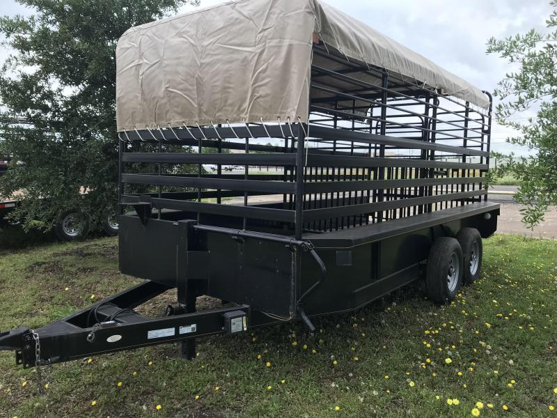 2019 Salvation 77x16 Equipment Cattle Trailer