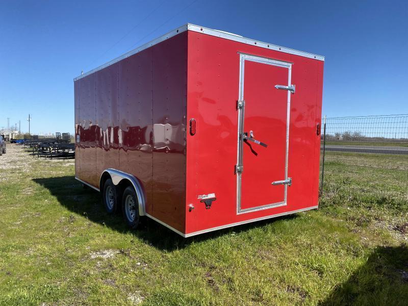 8.5X16TA-RED Vending / Concession Trailer