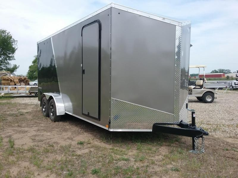 7X18 Plus 12 Inches Impact Shockwave Enclosed Trailer