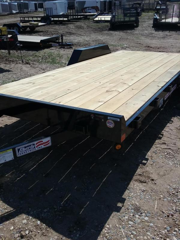 "82""x18' Liberty Car Hauler with 5' Slide In Ramps"