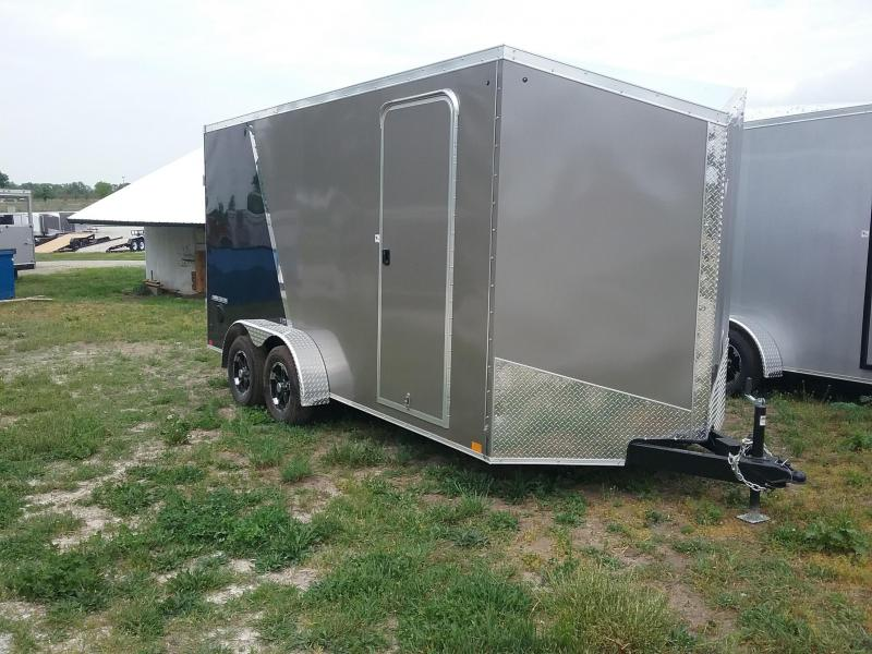 7X16 Plus 12 Inches Impact Shockwave Enclosed Cargo Trailer