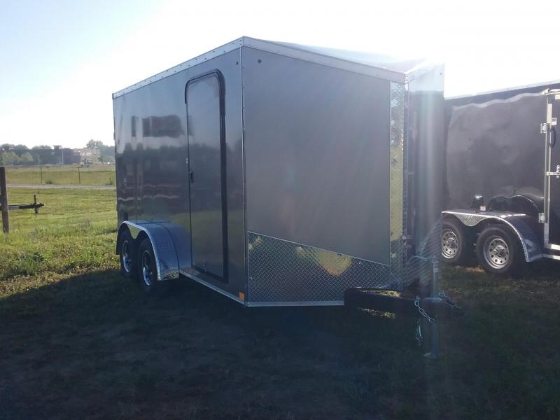 7X14 Plus 6 Inches Impact Tremor Enclosed Cargo Trailer