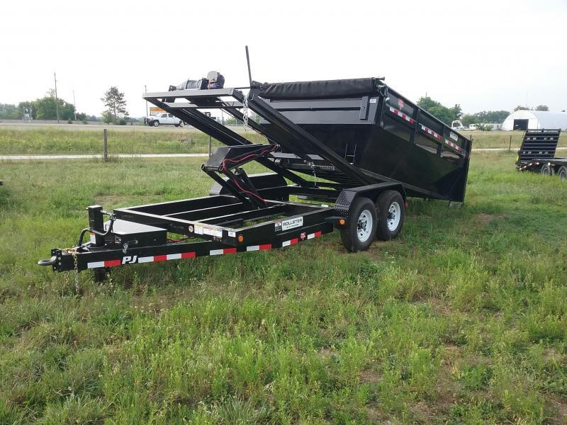 PJ Trailers 14 Foot Rollster Roll Off Dump Trailer