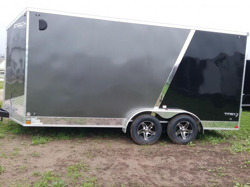 "7x16 (+12"" Additional Height) Stealth Titan Enclosed Trailer *HAIL DAMAGED-CALL FOR DISCOUNT PRICING*"