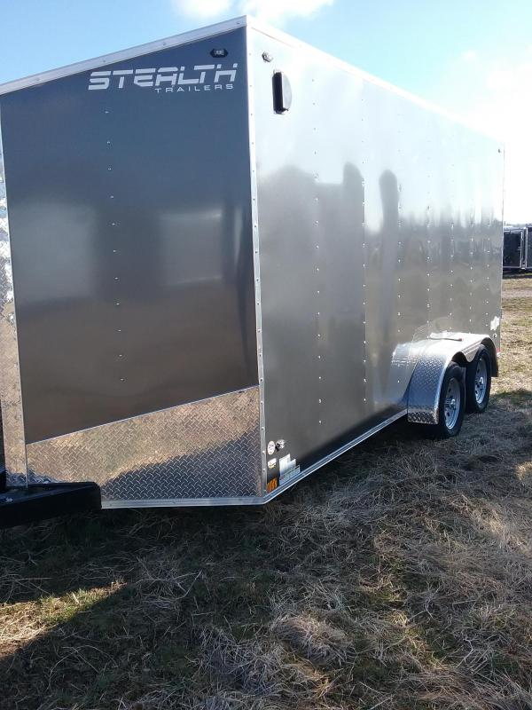 "2019 Stealth Trailers Mustang 7x16 (+12"" Additional Height) Enclosed Cargo Trailer"