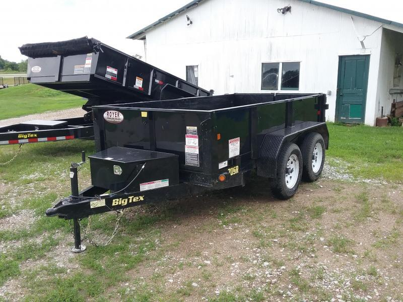 70SR 7K 5X10 Big Tex Dump Trailer