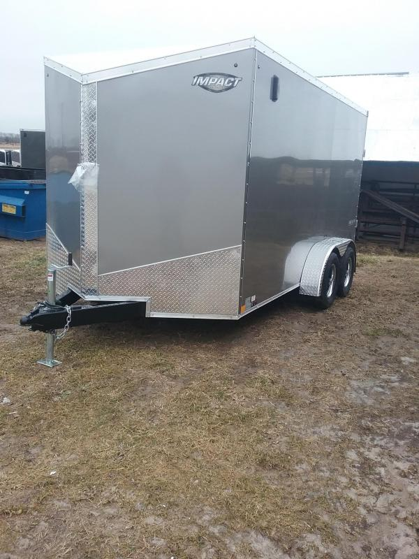 "2019 Impact Tremor 7x14 (+6"" Additional Height) Enclosed Cargo Trailer"