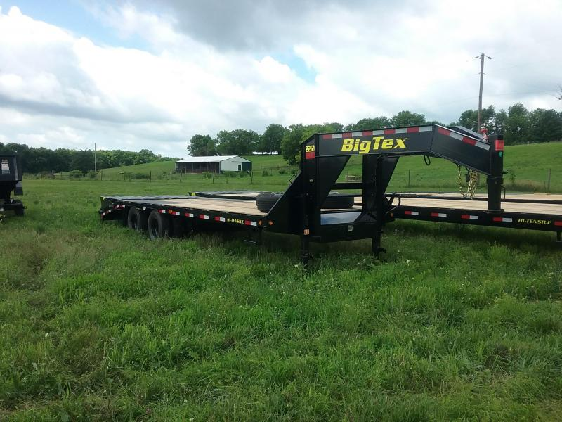 22GN 20 Plus 5 Big Tex Gooseneck Flatbed Trailer