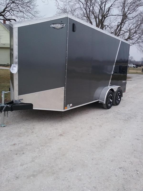 """2019 Impact Shockwave 7x16 (+12"""" Additional Height) Enclosed Cargo Trailer"""