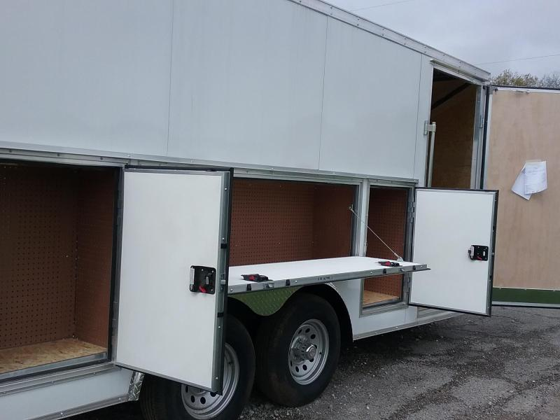 8.5x16 Stealth Titan Enclosed Trailer with 5200# Axles and Tool Crib Package