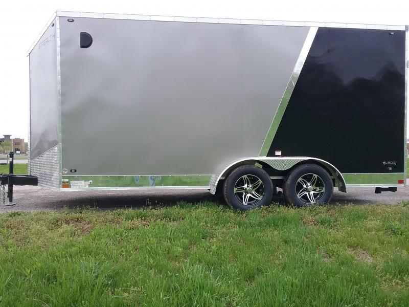 "7x16 (+12"" Additional Height) Stealth Titan Enclosed Motorcycle Trailer*HAIL DAMAGED-CALL FOR DISCOUNT PRICING*"