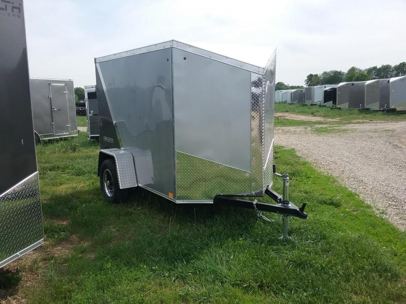 5X8 Plus 6 Inches Impact Tremor Enclosed Cargo Trailer