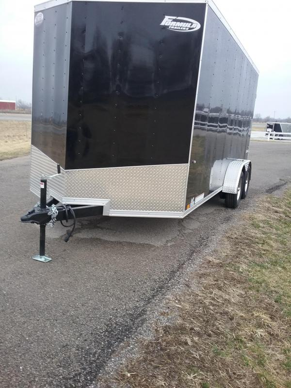 "2019 Formula Trailers Conquest 7x16 (+12"" Additional Height) Enclosed Cargo Trailer"