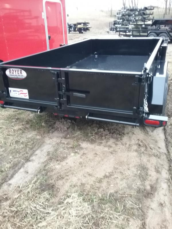 2019 Liberty 10K 72x12 Low Pro Dump Trailer with Ramps and Combo Gate