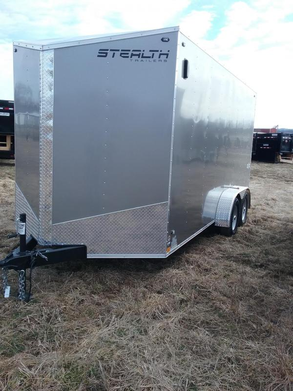 "2019 Stealth Mustang 7x16 (+12"" Additional Height) Enclosed Trailer"